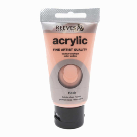 Reeves Acrylic Paint Flesh Tinted, tube 75 ml