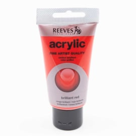 Reeves Acrylic Paint Brilliant Red, tube 75 ml