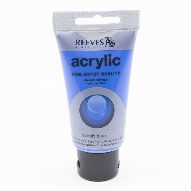 Reeves Acrylic Paint Cobalt Blue, tube 75 ml