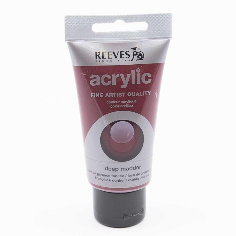 Reeves Acrylic Paint Deep Madder, tube 75 ml