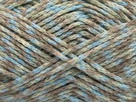 50996 COTTON PIXELS BLUE-CAMEL-KHAKI/PAKKET 7 STUKS!