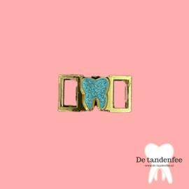 Shoe charm mint&gold