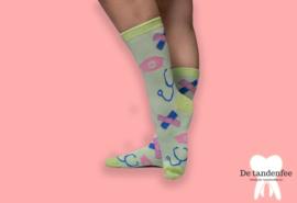 Zorgfee sokken groen