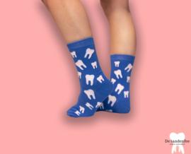 Blue dental socks