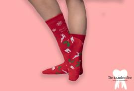Here comes santa floss kerstsokken