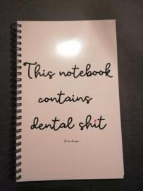 Notitieboekje dental shit
