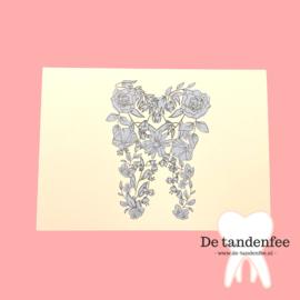 Flower tooth kaart - neutraal