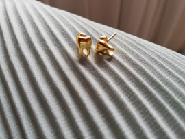 18k gold plated toothy earrings