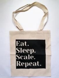 Eat. Sleep. Scale. Repeat. BLACK