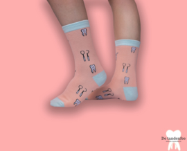 Dental socks peach&mint