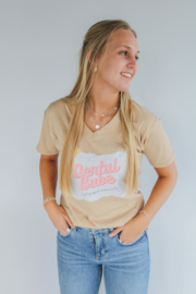 Dental Babe t-shirt beige