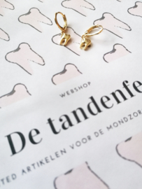 NIEUW toothy earcandy 18k gold plated