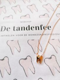 toothy necklace rosé gold