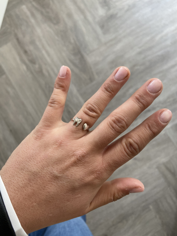 Love teeth ring zilver