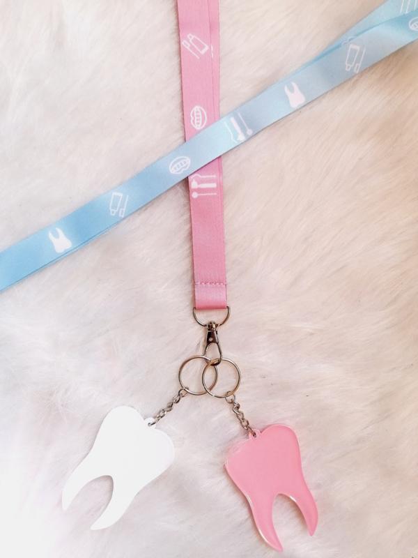 Keycoard babyblauw  of babyroze
