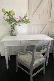 schrijftafel bureau wit met 1 lade