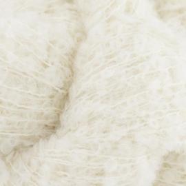 Alpaca bouclé superfine wit 01