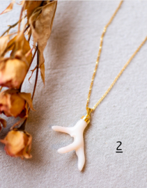 The Vintage Coral Branch White