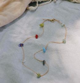 Soft gems necklace