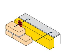 Spouwankers verzinkt 3.0x290x3,6mm  100st.