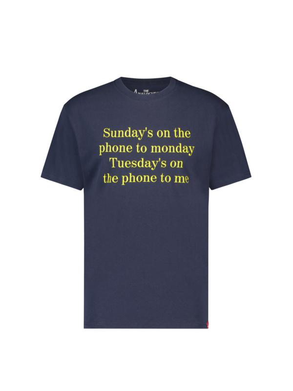 Sundays on the phone T-shirt Blue