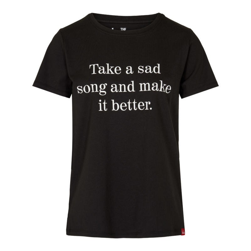 """Take a sad song"" T-shirt ladies fit"
