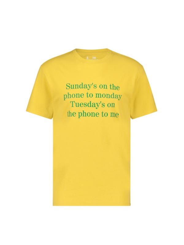 Sundays on the phone T-shirt Yellow