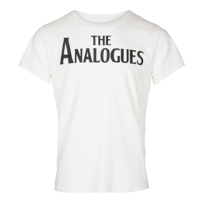 The Analogues logo T-shirt white