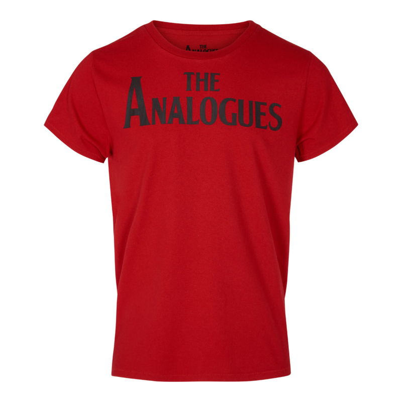 The Analogues logo T-shirt red