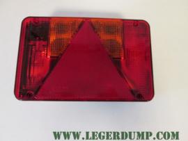 Achterlicht Radex 5800 met driehoek reflector en E3 keurmerk