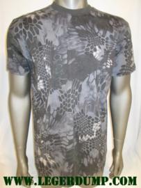 T-shirt Black snake camouflage