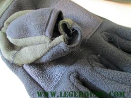 Outdoor fleece SMS Glove Jagers handschoen zwart groen