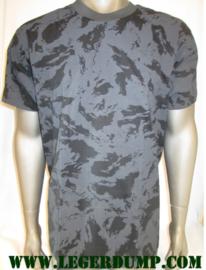 T-shirt Zwart Night camouflage