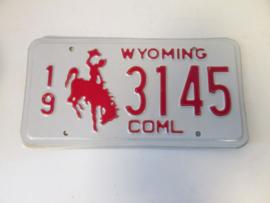 Nummer plaat Wyoming