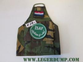 Armlet schouderband Camouflage met ISAF embleem