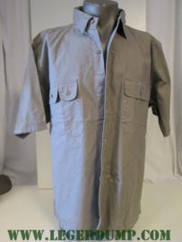 Overhemd grijs met korte mouw
