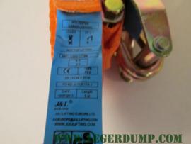 Spanband klein model kleur oranje  2,5 cm breed.