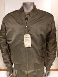 MA-1 flight jacket  reversible olive /groen