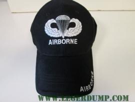 Baseball cap zwart Army Airborne