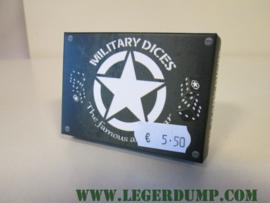 Dobbelstenen 6 stuks Amerikaanse Allied Star opdruk
