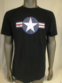 T-shirt Zwart Army WW-II Fostex