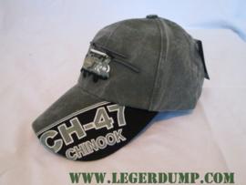 Baseball cap  groen CH 47 Chinook stone
