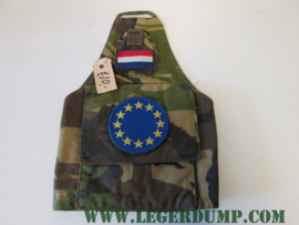 Armlet schouderband camouflage logo met 12 gele sterren