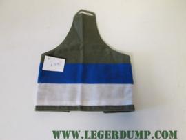 Armlet schouderband met reflectie blauw wit