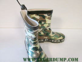 Kinderlaarsje camouflage rubber