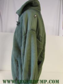 Fleece jas groen maat 128 L (valt als XXXL)