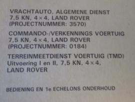 1TH9-3570-0184  Vrachtauto, Algemene Dienst 7,5kN, 4 x 4, Land Rover