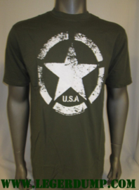 T-shirt groen Army ster vintage