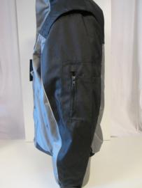 Werkjas zwart/grijs met afritsbare mouw