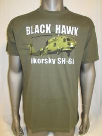 T-shirt groen black hawk